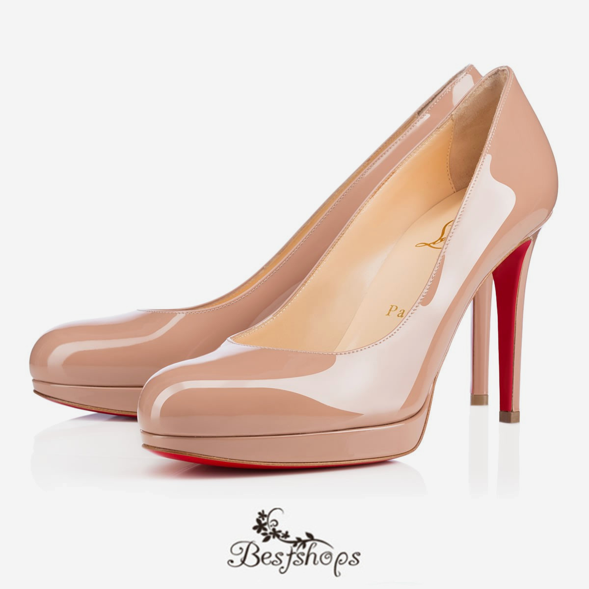 huge discount 1e306 793c1 New Simple Pump 100mm Nude Patent Leather BSCL900183