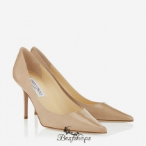 Jimmy Choo Nude Patent Pointy Toe Stiletto Pumps 70mm BSJC7413184