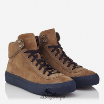 Jimmy Choo Autumn Khaki Suede High Top Trainers BSJC2580678