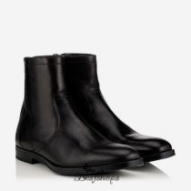 Jimmy Choo Black Shiny Leather and Shearling Boots BSJC6824429