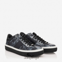 Jimmy Choo Black Storm Calf Leather Low Top Trainers BSJC1073618