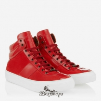 Jimmy Choo Olympic Red Suede and Patent High Top Trainers BSJC3473629
