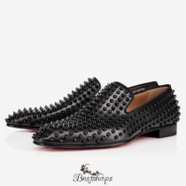 Dandelion Spikes Flat  Black Leather BS34213