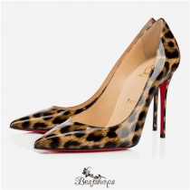 Decollete 554 100mm Brown Leopard Patent Leather BSCL145236