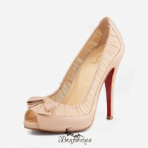 Angelique 120mm Peep Toe Pumps Nude BSCL300231