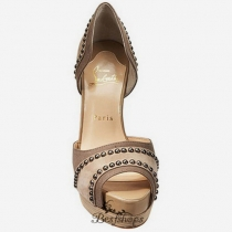 Henry 140mm Peep Toe Pumps Nude BSCL4958829