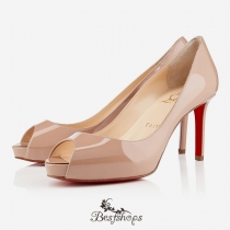 No Matter 80mm Peep Toe Pumps Nude BSCL569881