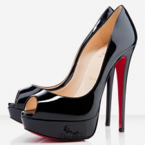 Lady 140mm Peep Toe Pumps Black BSCL4839103