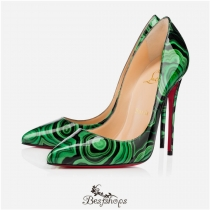 Pigalle Follies 120mm Version Vert Patent Leather BSCL815779