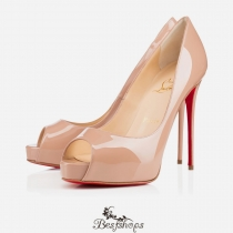 New Very Prive 120mm Nude Patent Leather BSCL665414