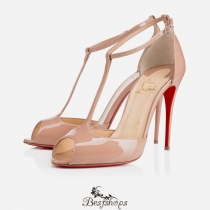 Senora 100mm Nude Patent Leather BSCL816555