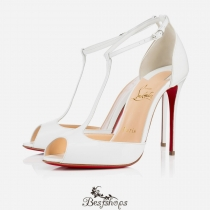 Senora 100mm White Patent Leather BSCL817512