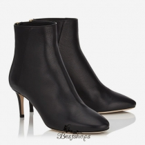 Jimmy Choo Black Grainy Calf Leather Ankle Boots 65mm BSJC3972266