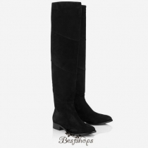 Jimmy Choo Black Suede Over the Knee Boots BSJC5557001
