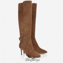 Jimmy Choo Khaki Brown Suede and Calf Ankle Boots 65mm BSJC2870658