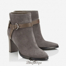 Jimmy Choo Taupe Grey Suede Ankle Boots 80mm BSJC4489033