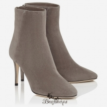 Jimmy Choo Taupe Grey Suede Ankle Boots 85mm BSJC6610054