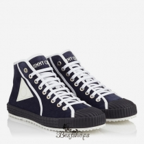 Jimmy Choo Uniform Blue Suede High Top Trainers BSJC9836368
