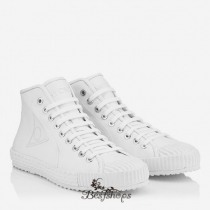 Jimmy Choo Ultra White Nappa Leather High Top Trainers BSJC4870962