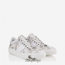 Jimmy Choo Ultra White Storm Calf Leather Low Top Trainers BSJC9874150