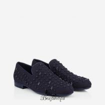 Jimmy Choo Uniform Blue Canvas with Mixed Stars Slippers BSJC9874019