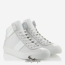 Jimmy Choo White Nappa and Patent High Top Trainers BSJC7414628
