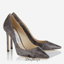 Jimmy Choo Dove Gloss Elaphe Pointy Toe Pumps 100mm BSJC3684474