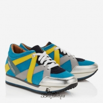 Jimmy Choo Multi Coloured Leather Mix Trainers BSJC9874628