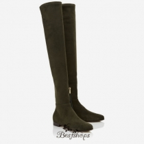 Jimmy Choo Army Green Stretch Suede Over the Knee Boots BSJC9684528