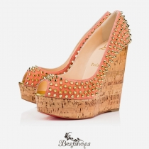 Une Plume Spike 140mm Flamingo Gold Suede BSCL700615