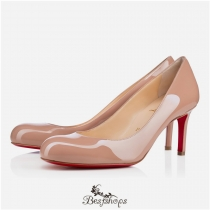 Simple Pump 70mm Nude Patent Leather BSCL741552