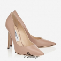 Jimmy Choo Ballet Pink Kid Leather Pointy Toe Pumps 110mm BSJC3870609
