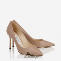 Jimmy Choo Ballet Pink Kid Leather Pointy Toe Pumps 85mm BSJC2560328
