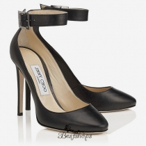 Jimmy Choo Black Kid Leather Round Toe Pumps 110mm BSJC2506734
