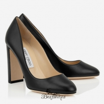 Jimmy Choo Black Nappa Leather Round Toe Pumps 100mm BSJC3670558