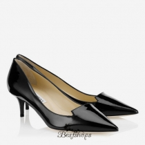 Jimmy Choo Black Patent Leather Pointy Toe Pumps 50mm BSJC6273678