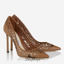 Jimmy Choo Canyon Laser Perforated Leather Pointy Toe Pumps 100mm BSJC4633520