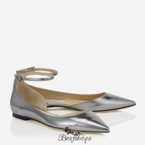 Jimmy Choo Steel Mirror Leather Pointy Toe Flats BSJC0740506