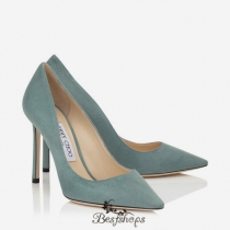 Jimmy Choo Verdi Gris Suede Pointy Toe Pumps 100mm BSJC6045023