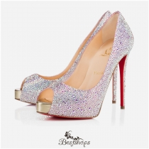 New Very Riche Strass 120mm Aurore Boreale Suede BSCL334441