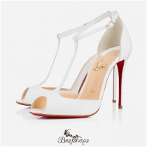 Senora 100mm White Patent Leather BSCL799741