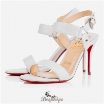 Sova Heel 100mm White Leather BSCL809991