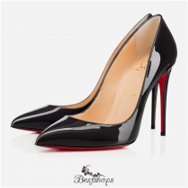 Pigalle Follies 100mm Fusain Patent Leather BSCL116458