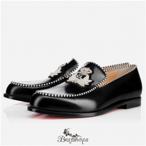 Laperouza Flat  Black Leather BSCL822562