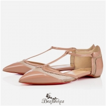 Mrs. Early Flat  Nude Patent Leather BSCL482641