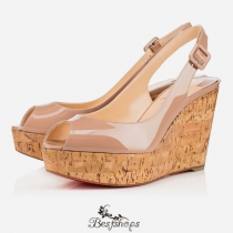 Une Plume Sling 100mm Nude Patent Leather BSCL336378