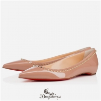 Anjalina Flat Nude Light Gold Patent Leather BSCL898874