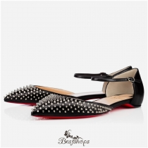 Baila Spike Flat Black Silver Leather BSCL809141