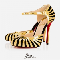 So Tango 120mm Black Gold Suede BSCL857062