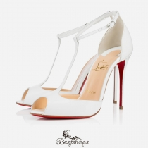Senora 100mm White Patent Leather BSCL817930